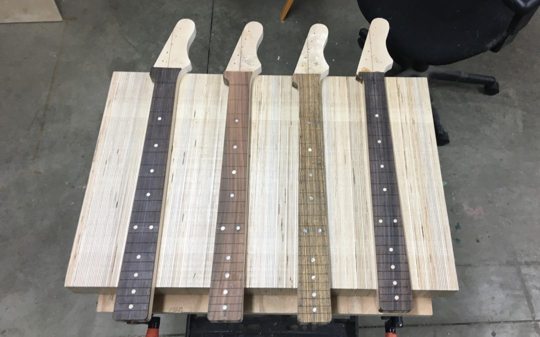 Our four new guitar builds are roughly neck and neck