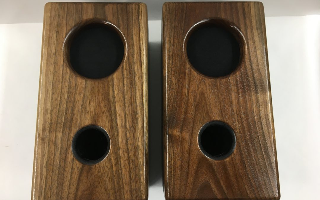 Our Mini Monitors in solid 3/4″ Black Walnut cabinets are now on sale!